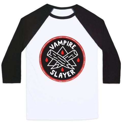 Vampire Slayer Culture Merit Badge Baseball Tee