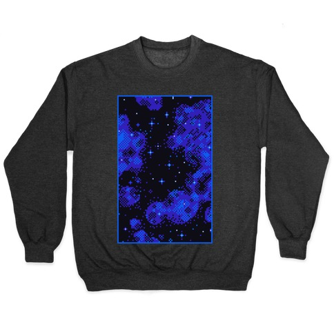 Pixelated Blue Nebula Pullover
