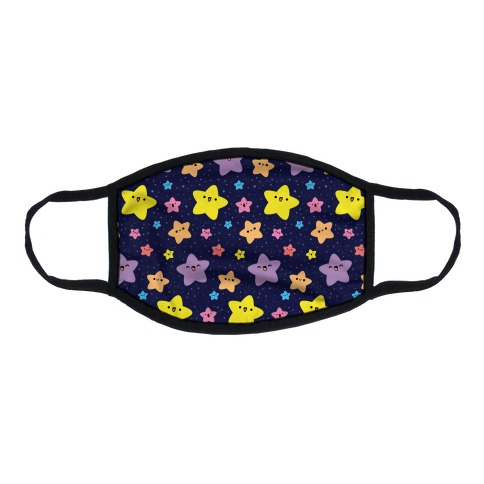 Cute Stars Pattern Flat Face Mask