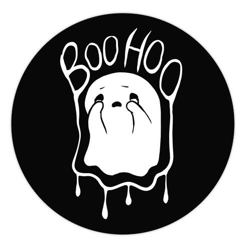 Boo Hoo Sad Ghost Die Cut Sticker