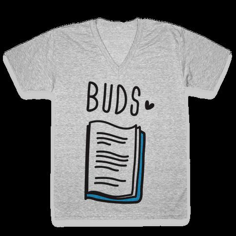 Book Buds 2 V-Neck Tee Shirt
