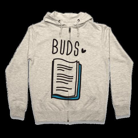 Book Buds 2 Zip Hoodie