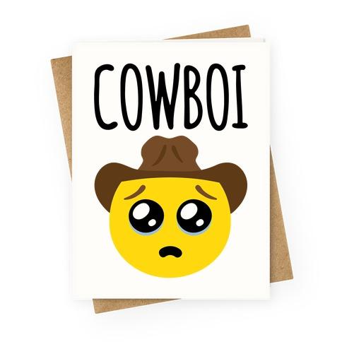 Cowboi Greeting Card