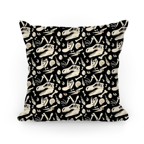 Dino Fossils Pattern Pillow