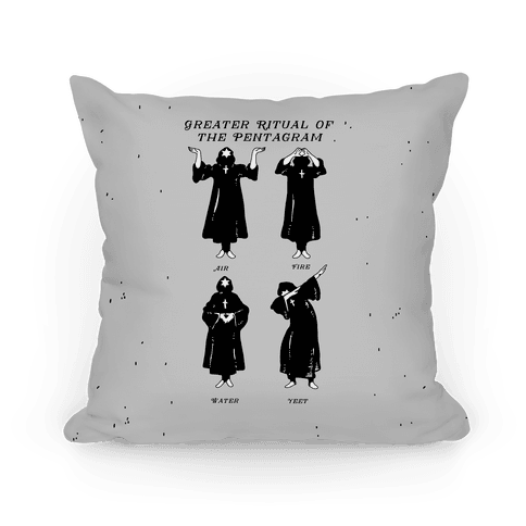 Greater Ritual of the Pentagram Dab Pillow