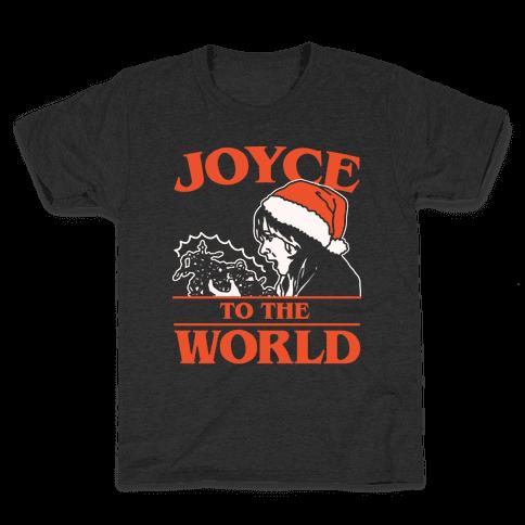 Joyce To The World Parody White Print Kids T-Shirt