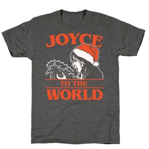Joyce To The World Parody White Print T-Shirt