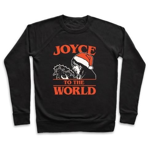 Joyce To The World Parody White Print Pullover