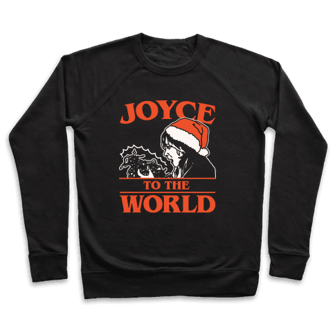 Joyce To The World Parody White Print Pullover