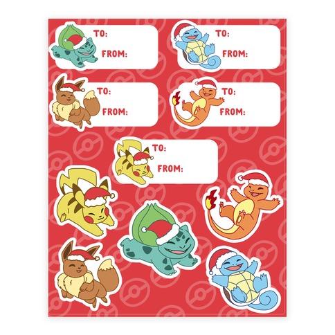 Stickers Pokemon.We Wish Chu A Merry Christmas Pokemon Sticker Lookhuman