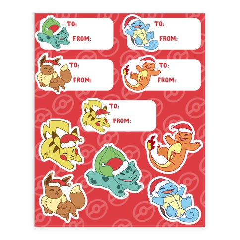 We Wish Chu a Merry Christmas - Pokemon Sticker/Decal Sheet