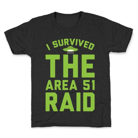 I Survived The Area 51 Raid Parody White Print Kids T-Shirt