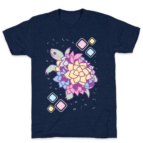 Pastel Succulent Turtle T-Shirt