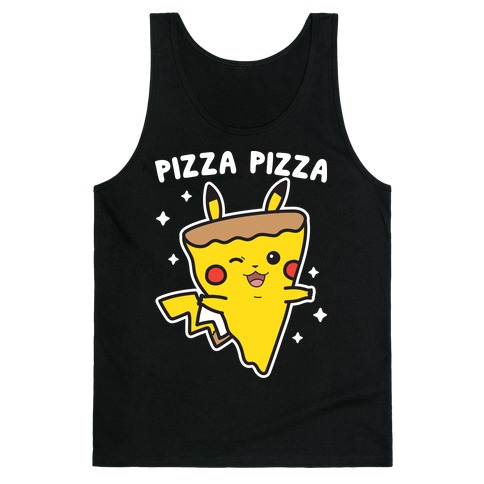 Pizza Pizza Pikachu Parody Tank Top