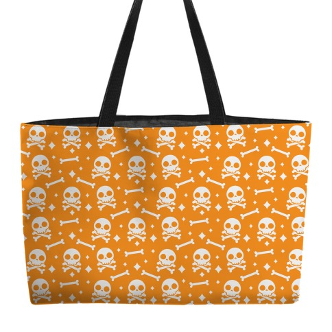Cute Skull N' Bones Pattern (Orange) Weekender Tote