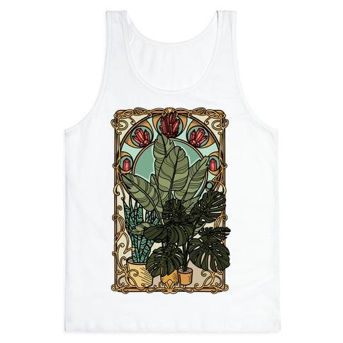 Art Nouveau House Plants Tank Top