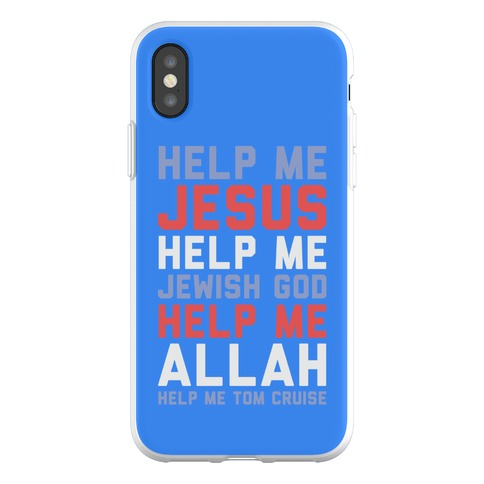 Help Me Jesus Phone Flexi-Case