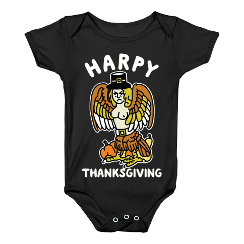 Harpy Thanksgiving Baby Onesy