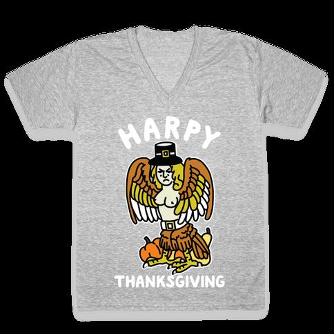 Harpy Thanksgiving V-Neck Tee Shirt