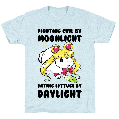 Fighting Evil By Moonlight Eating Lettuce By Daylight T-Shirt