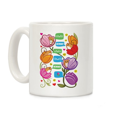 Harvest Mice Emoji Floral Pattern Coffee Mug