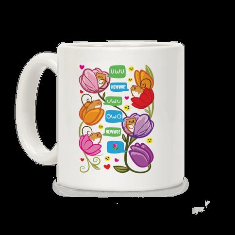 Harvest Mice Emoji Floral Pattern Coffee Mug