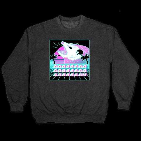 Screaming Retrowave Possum Pullover