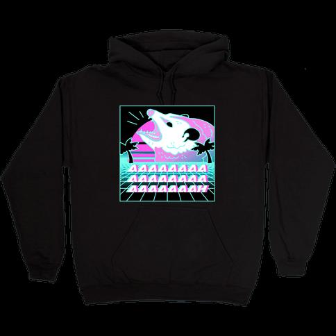 Screaming Retrowave Possum Hooded Sweatshirt