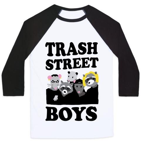 Trash Street Boys Baseball Tee