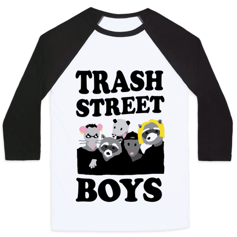 Trash Street Boys Baseball Tee