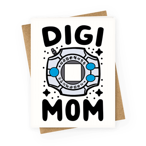 Digi Mom Greeting Card