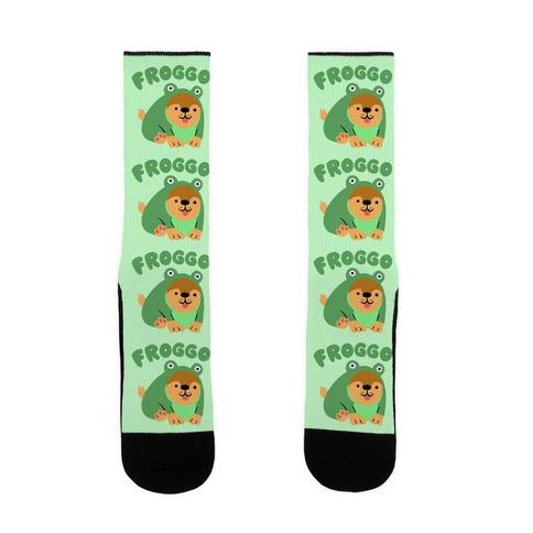 Froggo Doggo Frog Sock