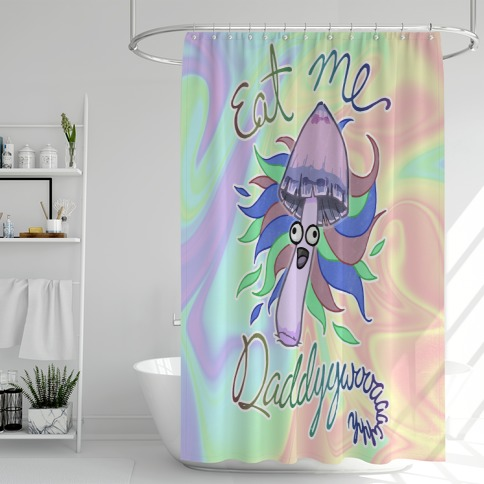 Eat Me Daddy Psychedelic Shroom Shower Curtain