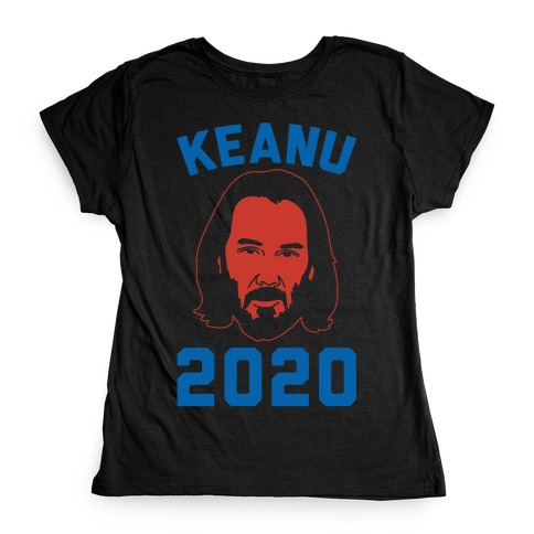 Keanu 2020 White Print Womens T-Shirt