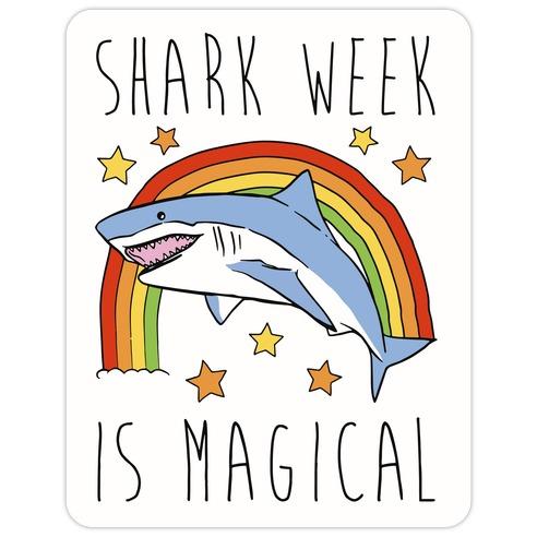 Shark Week Is Magical Parody Die Cut Sticker