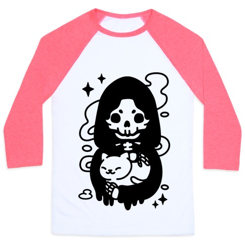 Death and Kitty Baseball Tee