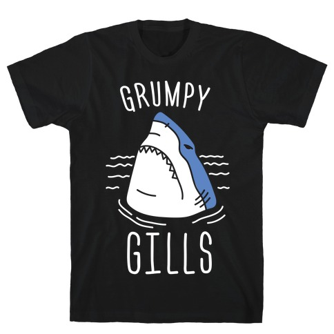 Grumpy Gills Shark (White) T-Shirt