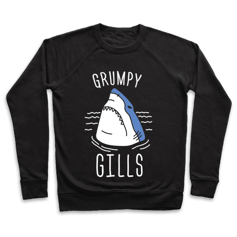 Grumpy Gills Shark (White) Pullover