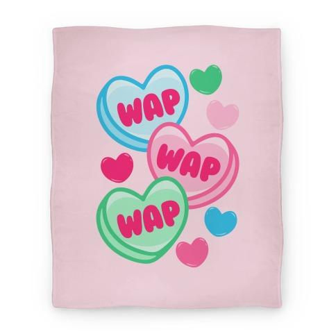 WAP WAP WAP Candy Hearts Parody Blanket