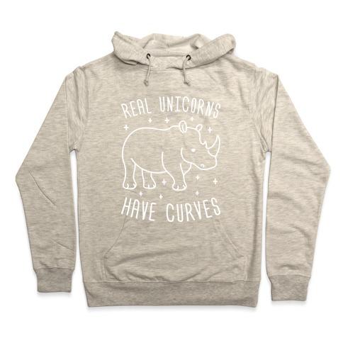 e2b8a0a46fa Real Unicorns Have Curves (Rhino) Hoodie. Pullover ...