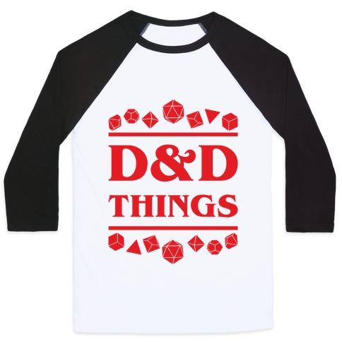 D&D Things Baseball Tee