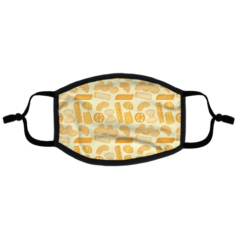 Pasta Pattern Flat Face Mask