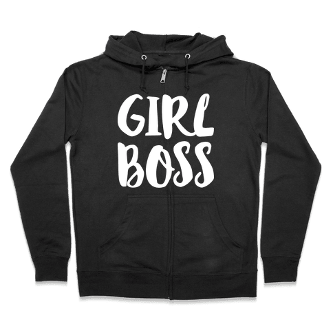 Girl Boss Zip Hoodie