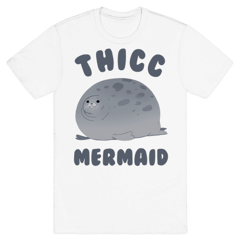 Thicc Mermaid Mens T-Shirt