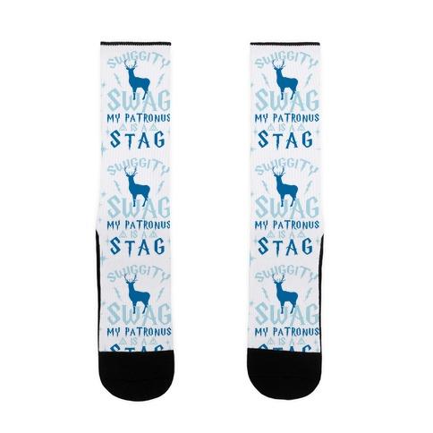 Swiggity Swag my Patronus is a Stag Sock