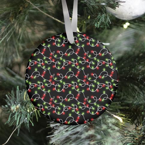 Christmas Lights Pattern Ornament