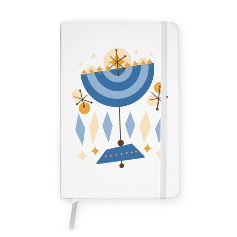 Mid-Century Modern Menorah (Hanukkah) Notebook