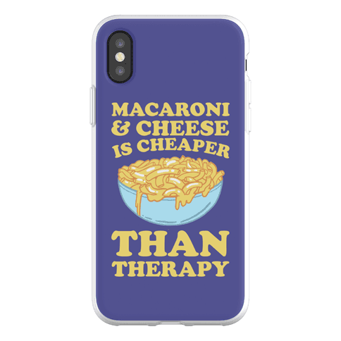 Macaroni & Cheese Is Cheaper Than Therapy Phone Flexi-Case