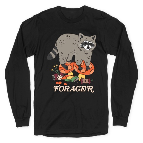 Forager Raccoon Long Sleeve T-Shirt