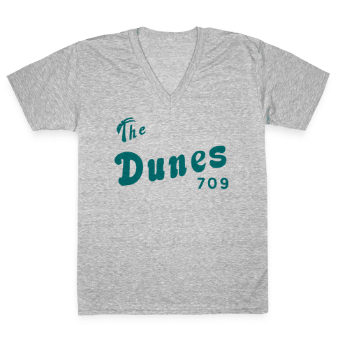 The Dunes Vintage V-Neck Tee Shirt
